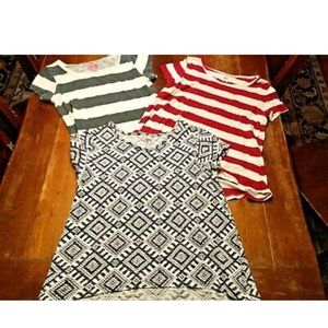 Lot of Three Girls Shirts/Tops Sz 14 Old Navy